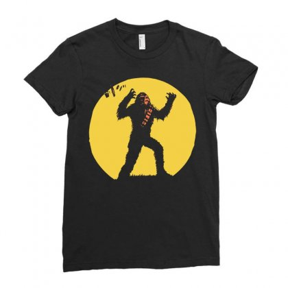 Chewbacca Death Star Glow In The Dark Chewie Tie Fighter Funny 01 Ladies Fitted T-shirt Designed By Fanshirt