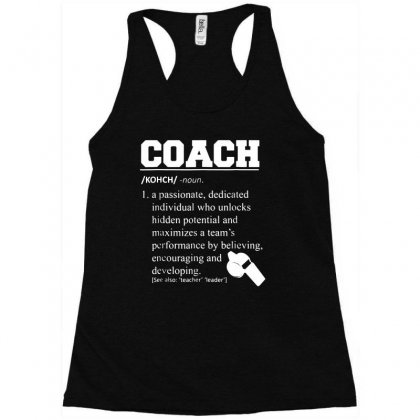 Coach Definition Tshirt Funny Coach 01 Racerback Tank Designed By Fanshirt