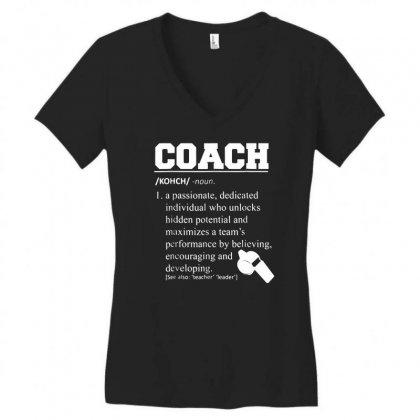 Coach Definition Tshirt Funny Coach 01 Women's V-neck T-shirt Designed By Fanshirt