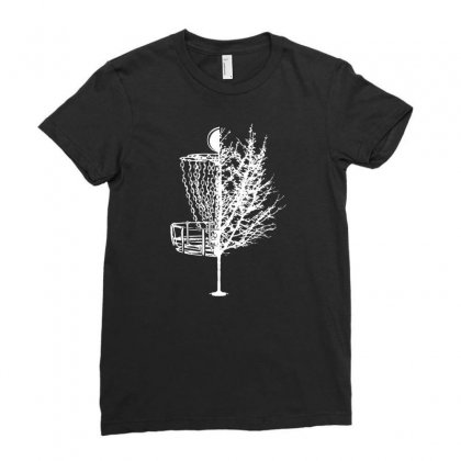 Disc Golf Basket Tree Shirts Funny 01 Ladies Fitted T-shirt Designed By Fanshirt