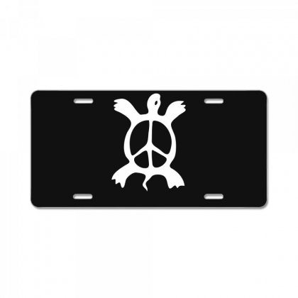 Turtle Peace Sign License Plate Designed By Warief77
