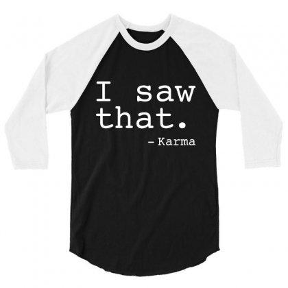 Saw Karma 3/4 Sleeve Shirt Designed By C4hya