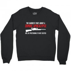 the hardest part about a zombie Crewneck Sweatshirt | Artistshot