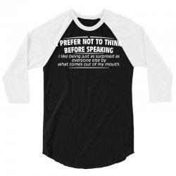 think mouth 3/4 Sleeve Shirt | Artistshot