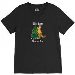 t rex hates christmas tree 2 V-Neck Tee | Artistshot