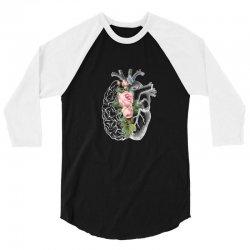 brain and heart for dark 3/4 Sleeve Shirt | Artistshot