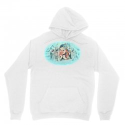 The child with the dog lying Unisex Hoodie | Artistshot