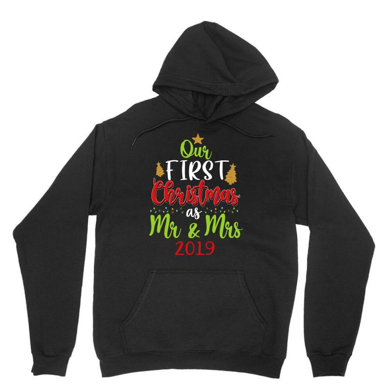 Our First Christmas As Mr And Mrs 2019 For Dark Unisex Hoodie | Artistshot