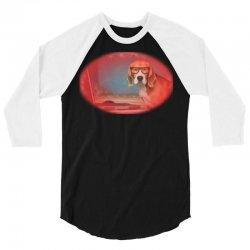 Sleepy beagle dog in funny gl 3/4 Sleeve Shirt   Artistshot