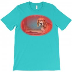 Sleepy beagle dog in funny gl T-Shirt   Artistshot