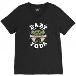 Baby Yoda V-Neck Tee | Artistshot