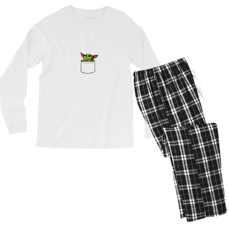Yoda Pocket Men's Long Sleeve Pajama Set | Artistshot
