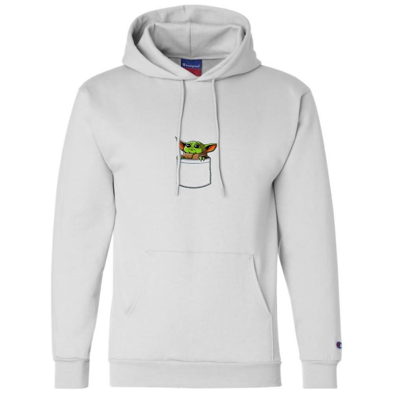 Yoda Pocket Champion Hoodie   Artistshot