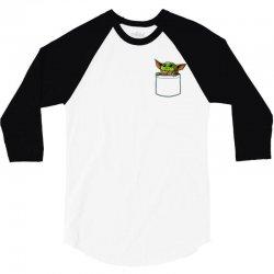 Yoda pocket 3/4 Sleeve Shirt | Artistshot