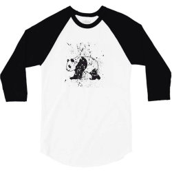 Panda 3/4 Sleeve Shirt   Artistshot