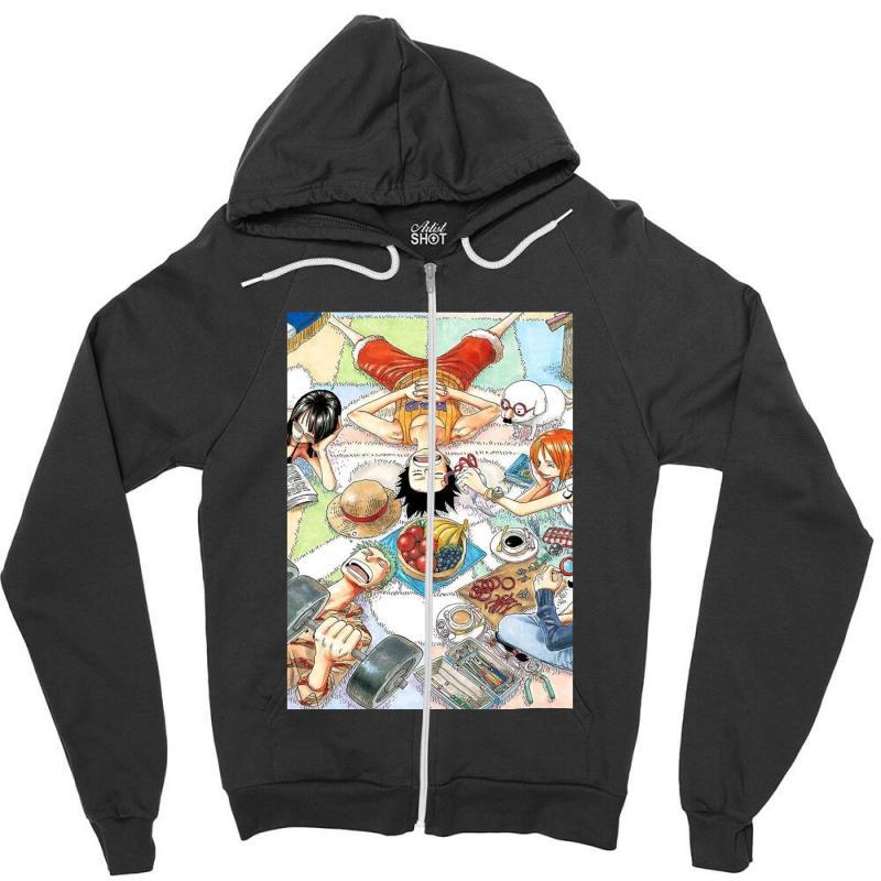 One Piece Cover Zipper Hoodie | Artistshot