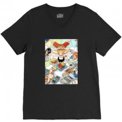 one piece cover V-Neck Tee | Artistshot