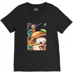 one piece luffy V-Neck Tee | Artistshot