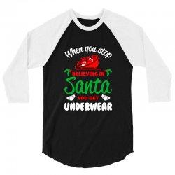 believe in santa 3/4 Sleeve Shirt | Artistshot