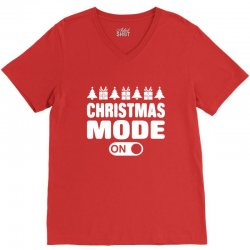 christmas mode on V-Neck Tee | Artistshot