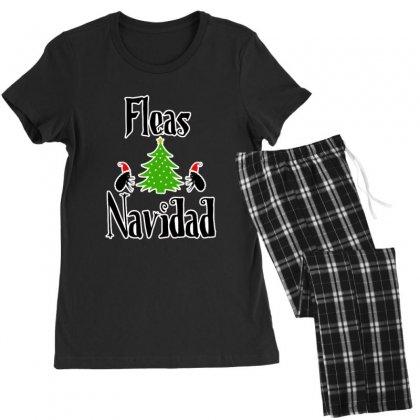 Fleas Navidad Funny Feliz Navidad Christmas Women's Pajamas Set Designed By Sr88