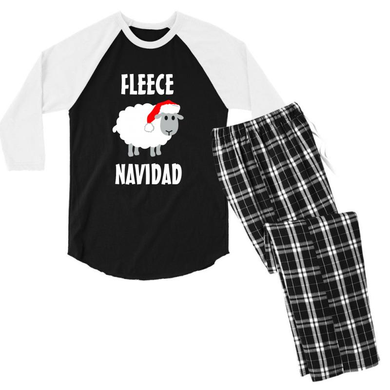Fleece Navidad Men's 3/4 Sleeve Pajama Set | Artistshot