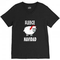 fleece navidad V-Neck Tee | Artistshot