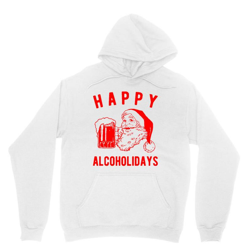 Happy Alcoholidays Unisex Hoodie | Artistshot