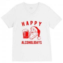 happy alcoholidays V-Neck Tee | Artistshot