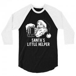 santa's little helper 3/4 Sleeve Shirt | Artistshot