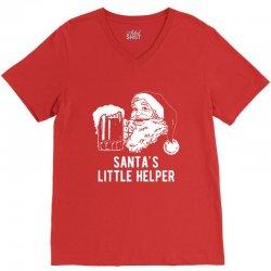 santa's little helper V-Neck Tee | Artistshot