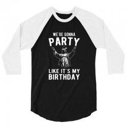 we're gonna party like it's my birthday jesus christmas 3/4 Sleeve Shirt | Artistshot