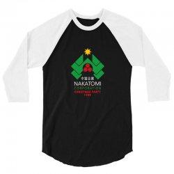 nakatomi christmas party 3/4 Sleeve Shirt   Artistshot