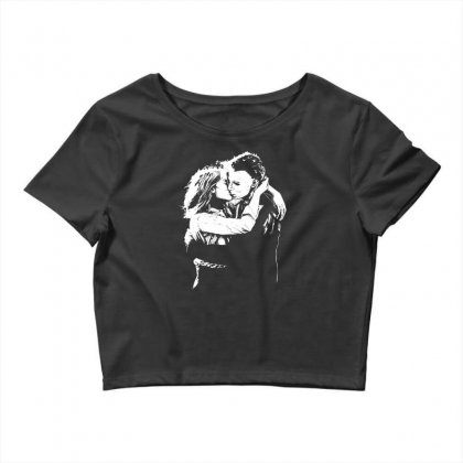 Michael Myers And Laurie Strode Love Crop Top Designed By Mdk Art