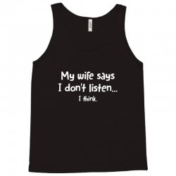 wife think Tank Top | Artistshot