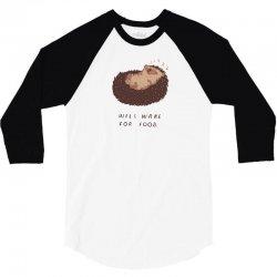 will wake for food 3/4 Sleeve Shirt | Artistshot