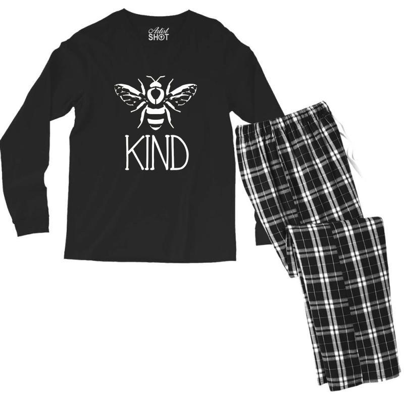 Bee Kind Men's Long Sleeve Pajama Set   Artistshot