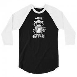 wtf raccoon 3/4 Sleeve Shirt | Artistshot