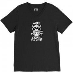 wtf raccoon V-Neck Tee | Artistshot