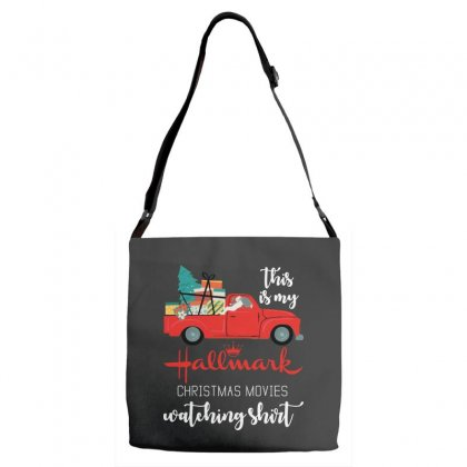 This Is My Hallmark Christmas Movies Watching Adjustable Strap Totes Designed By Rosdiana Tees