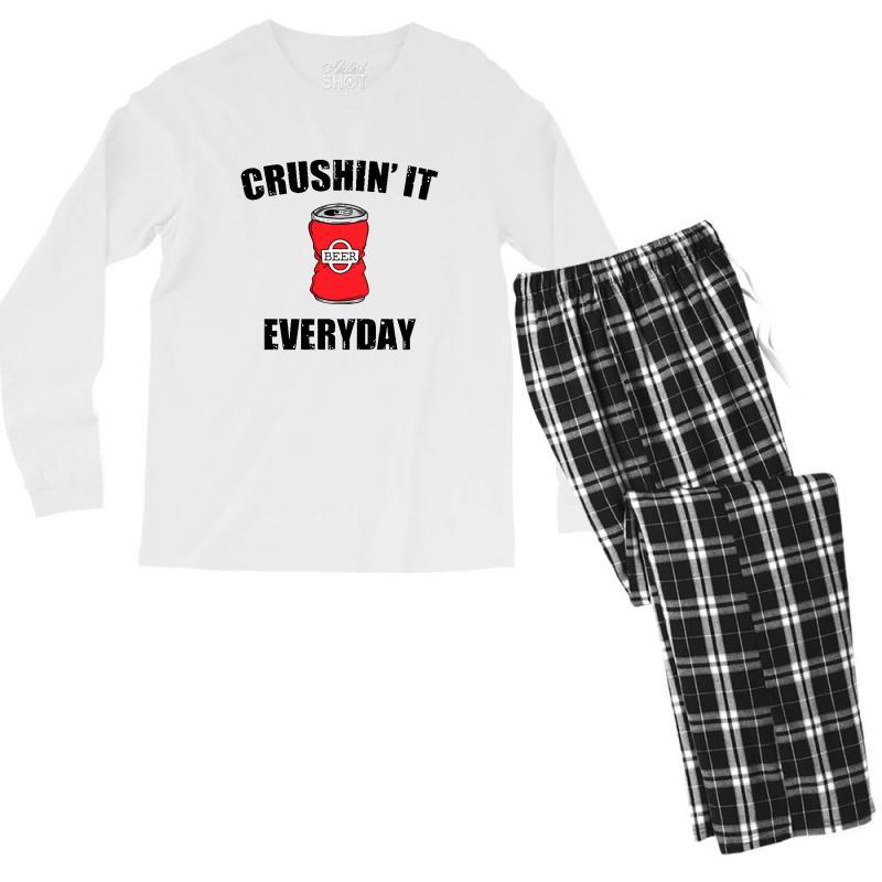 Crushin It Everyday Men's Long Sleeve Pajama Set | Artistshot