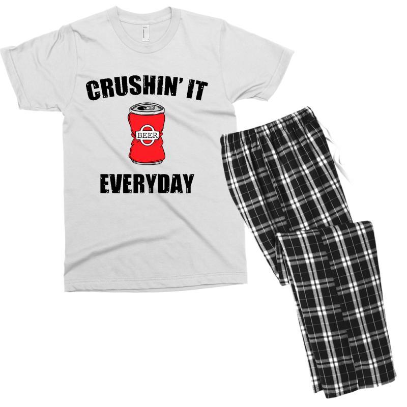 Crushin It Everyday Men's T-shirt Pajama Set | Artistshot