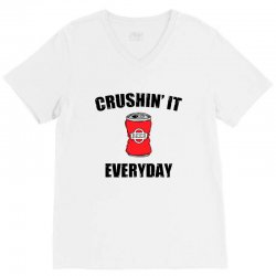 crushin it everyday V-Neck Tee | Artistshot