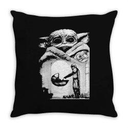 a bountiful baby yoda in mandalorian Throw Pillow | Artistshot