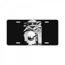 a bountiful baby yoda in mandalorian License Plate | Artistshot