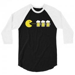 pacman beer 3/4 Sleeve Shirt | Artistshot