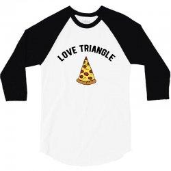 pizza love triangle 3/4 Sleeve Shirt | Artistshot