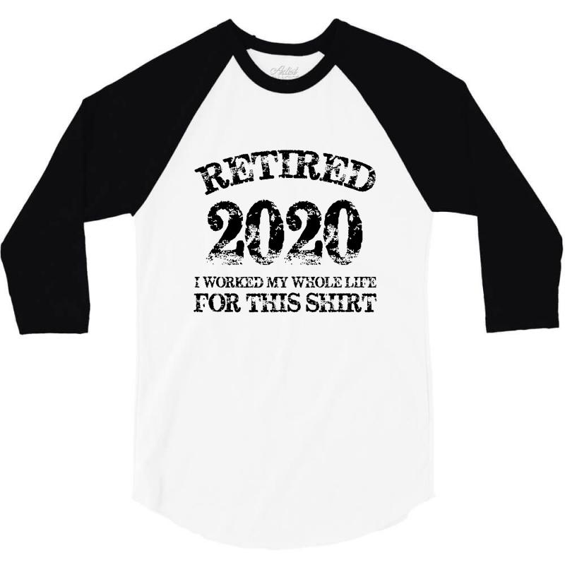 Retired 2020 3/4 Sleeve Shirt | Artistshot