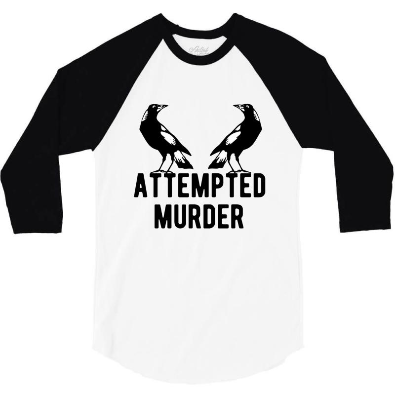 Two Crows Attempted Murder 3/4 Sleeve Shirt | Artistshot