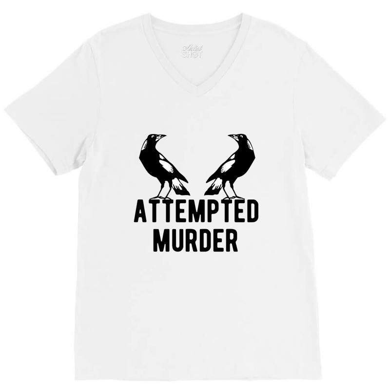Two Crows Attempted Murder V-neck Tee | Artistshot